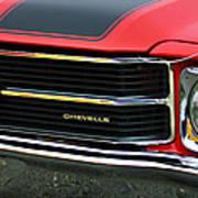Chevrolet Chevelle Ss Grille Emblem Art Print