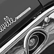 Chevrolet Chevelle Ss Taillight Emblem Art Print