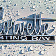 1966 Chevrolet Corvette Sting Ray Emblem -0052c Art Print