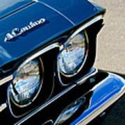 Chevrolet El Camino Hood Emblem - Head Lights Art Print