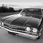 Chevrolet El Camino In Black And White Art Print