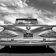 Chevrolet Impala 1959 In Black And White Art Print