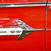 Chevrolet Impala Classic In Red Art Print