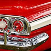 Chevrolet Impala Classic Rear View Art Print