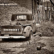Chevrolet Pickup - Sepia Art Print
