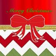 Chevron Christmas Art Print