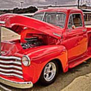 Chevy Hot Red Art Print