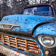 Chevy In The Woods Art Print by Debra and Dave Vanderlaan