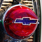 Chevy Red White And Blue Art Print