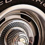 Chevy Wheel Art Print