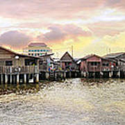 Chew Jetty Heritage Site In Penang Art Print