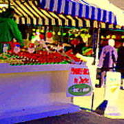 Chez Nino At Marche Jean Talon Montreal A Taste Of Culinary Culture  Food Art Scenes Carole Spandau  Art Print