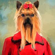 Chic Yorkshire Terrier Art Print