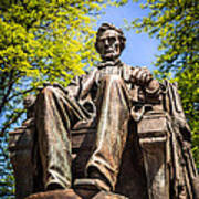 Chicago Abraham Lincoln Sitting Statue Art Print