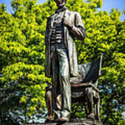 Chicago Abraham Lincoln The Man Standing Statue  Art Print