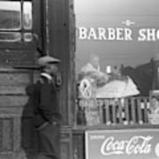 Chicago Barber Shop, 1941 Art Print