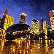 Chicago Night Art Print