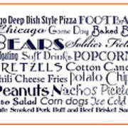 Chicago Bears Game Day Food 3 Art Print