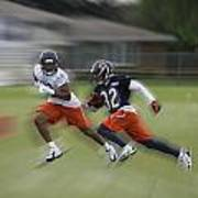 Chicago Bears Rb Michael Ford Moving The Ball Training Camp 2014 Art Print