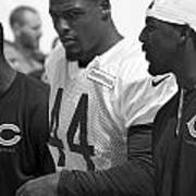 Chicago Bears S Adrian Wilson Training Camp 2014 Bw Art Print