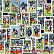 Chicago Bears Training Camp 2014 Collage Pa 01 Art Print