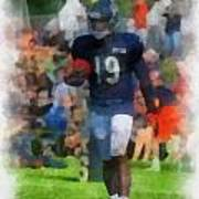 Chicago Bears Wr Josh Morgan Training Camp 2014 Pa 01 Art Print
