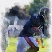 Chicago Bears Wr Micheal Spurlock Training Camp 2014 04 Pa 01 Art Print