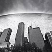 Chicago Black And White Photography Print by Dapixara Art