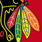 Chicago Blackhawks 2 Art Print