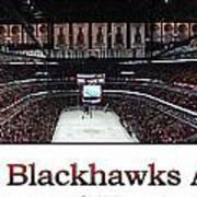 Chicago Blackhawks At Home Panorama White Art Print