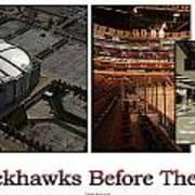 Chicago Blackhawks Before The Gates Open Interior 2 Panel White 02 Art Print