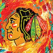 Chicago Blackhawks logo Art Print