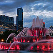 Chicago Blackhawks Skyline Art Print by Jeff Lewis
