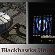 Chicago Blackhawks United Center 2 Panel Sb Art Print