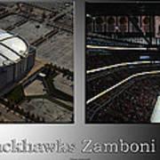 Chicago Blackhawks Zamboni Break Time 2 Panel Sb Art Print