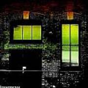 Chicago Brick Facade Glow Art Print