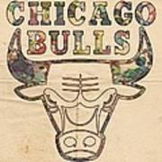 Chicago Bulls Logo Vintage Art Print