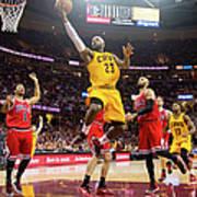 Chicago Bulls V Cleveland Cavaliers - Art Print