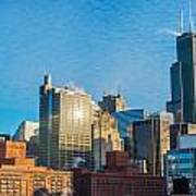 Chicago Cityscape During The Day Art Print
