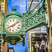 Chicago Clock Hdr Photo Art Print