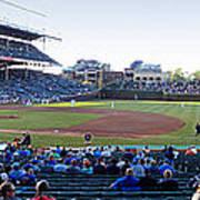 Chicago Cubs Pregame Time Panorama Art Print