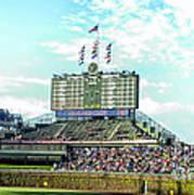 Chicago Cubs Scoreboard 01 Art Print