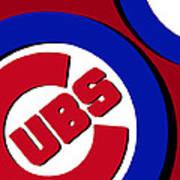 Chicago Cubs Football Art Print