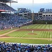 Chicago Cubs Up To Bat Art Print