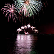 Chicago Fireworks Art Print