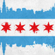 Chicago Flag Art Print