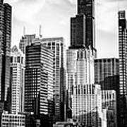 Chicago High Resolution Picture In Black And White Art Print by Paul Velgos