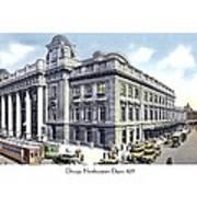 Chicago Illinois - Northwestern Railroad Station - 1927 Art Print