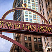 Chicago Jewelers Row Sign  Art Print