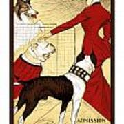 Chicago Kennel Club's Dog Show - Advertising Poster - 1902 Art Print